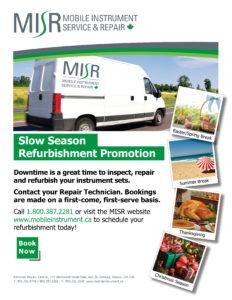 MISR Slow Season Refurbishment Flyer
