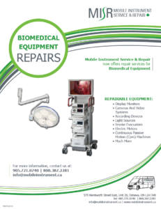 MISR Biomedical Repairs Flyer