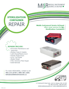 MISR Sterilization Container Repair Flyer